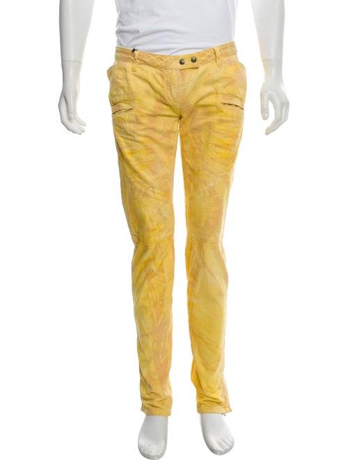 Balmain Dyed Skinny Jeans yellow