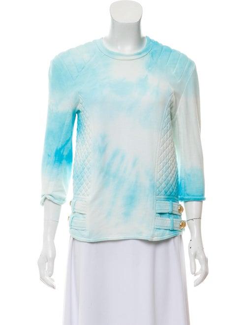 Balmain Medium Knit Sweater white