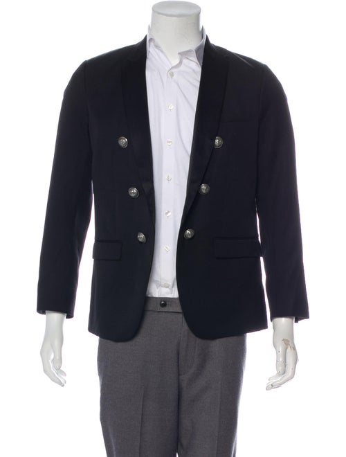 Balmain Wool Tuxedo Jacket black