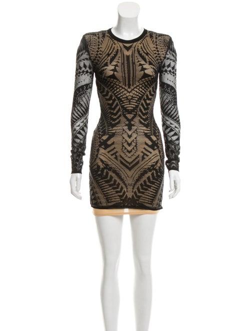 Balmain Semi-Sheer Lace Dress Black