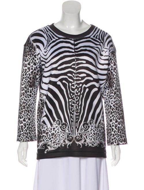 Balmain Zebra Print Sweatshirt Black