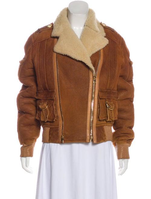 Balmain Leather & Shearling Jacket