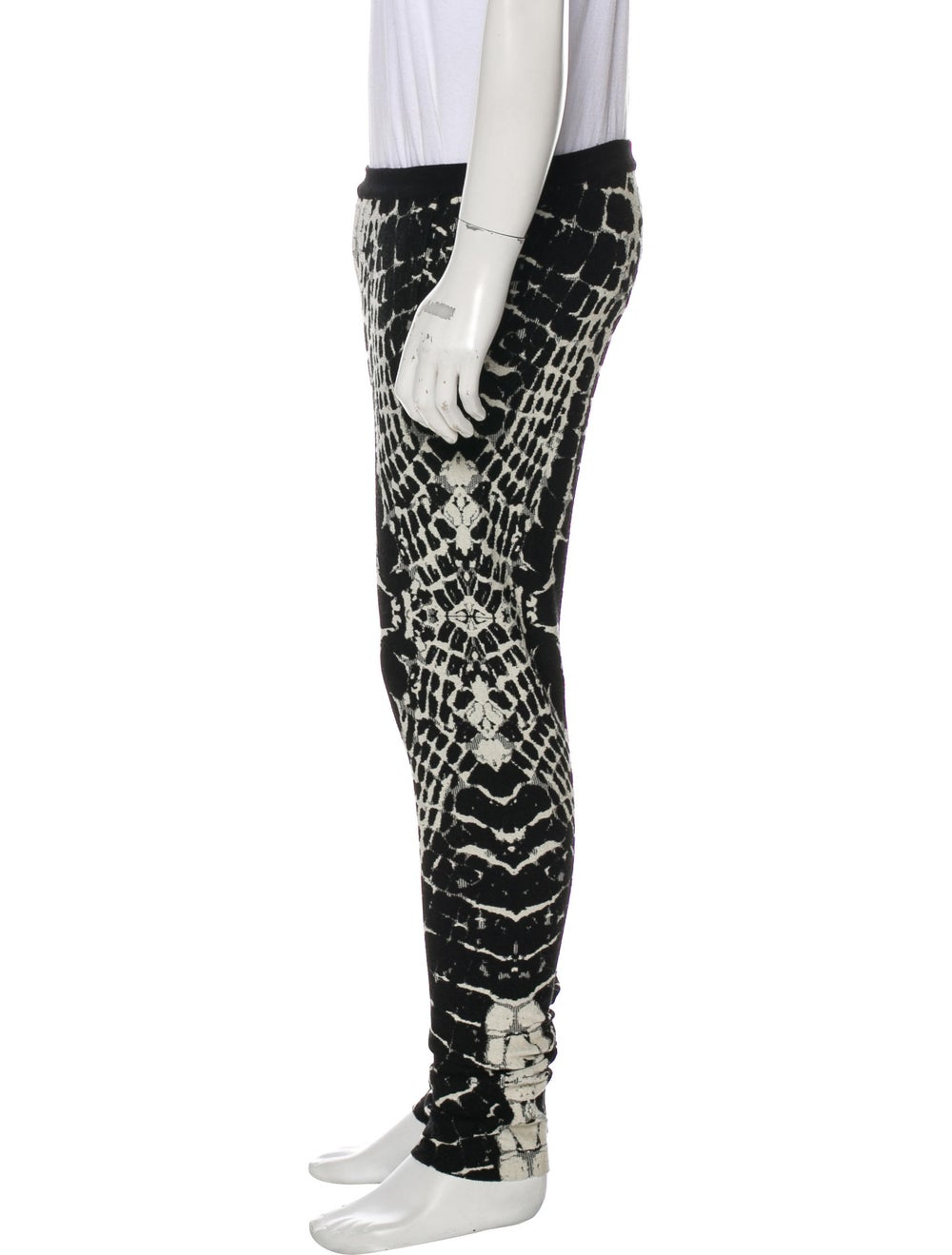 Balmain Animal Print Wool Pants black - image 2