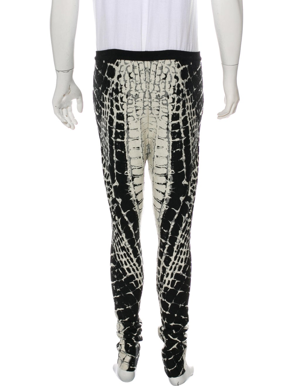 Balmain Animal Print Wool Pants black - image 3