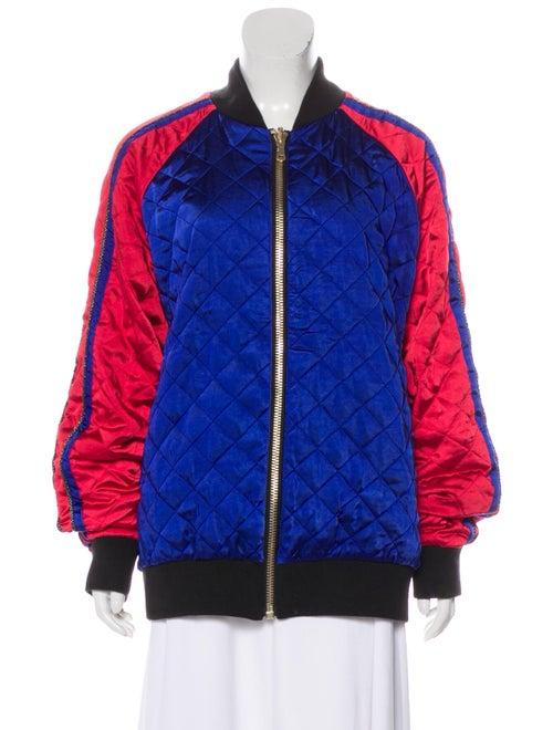 Balmain Quilted Reversible Jacket Blue