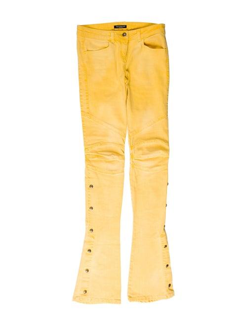 Balmain Mid-Rise Flared Jeans Yellow