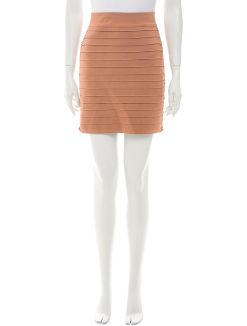 Balmain Mini Skirt Brown