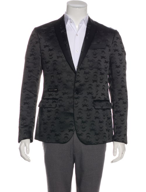 Balmain Embroidered Tuxedo Jacket black