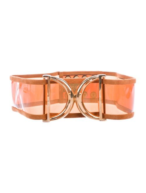 Balmain Oversize Waist Belt Orange