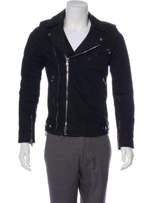 Balmain Denim Moto Jacket black