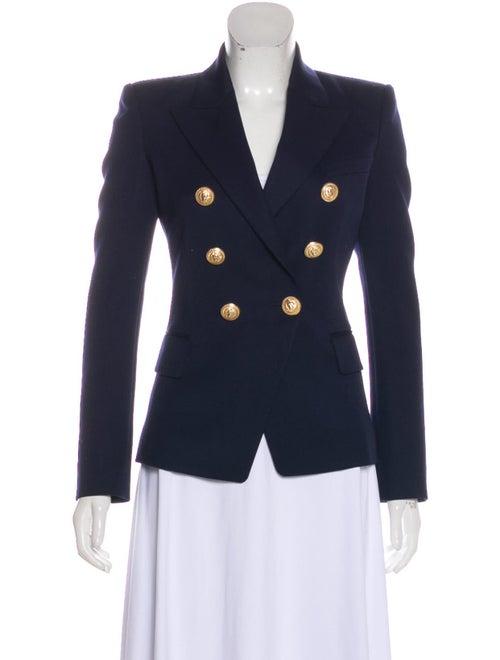 Balmain Wool Double-Breasted Blazer Navy