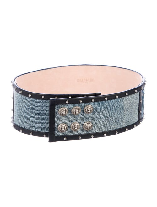 Balmain Embellished Waist Belt Blue