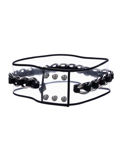 Balmain Chain-Link Waist Belt Clear