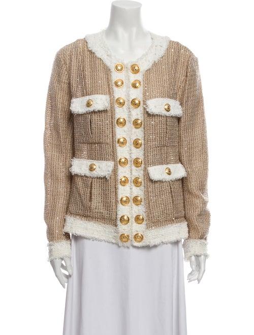Balmain Tweed Pattern Jacket