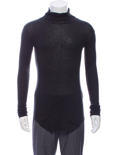 Balmain Turtleneck Long Sleeve Pullover Grey