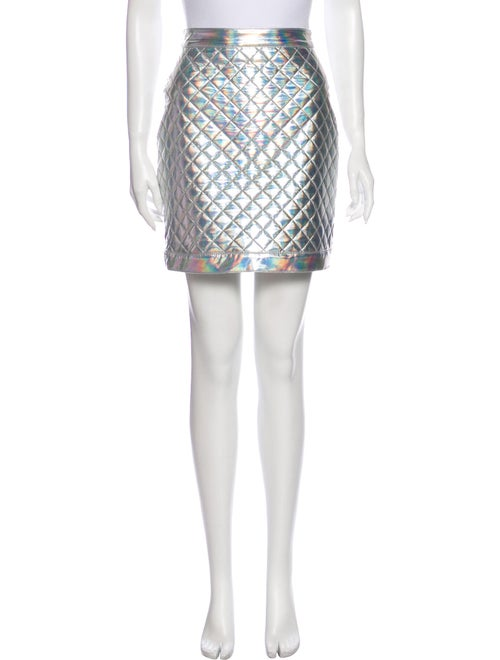 Balmain Printed Mini Skirt Metallic
