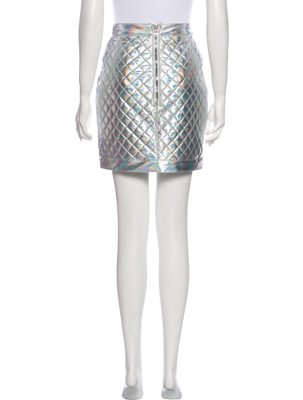 Balmain Printed Mini Skirt Metallic - image 3