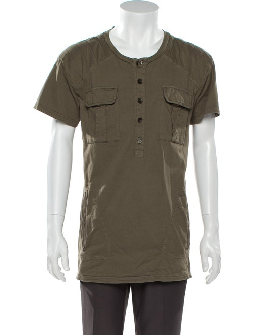 Balmain Short Sleeve Shirt Green