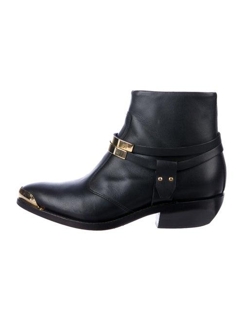 Balmain Leather Western Boots Black - image 1
