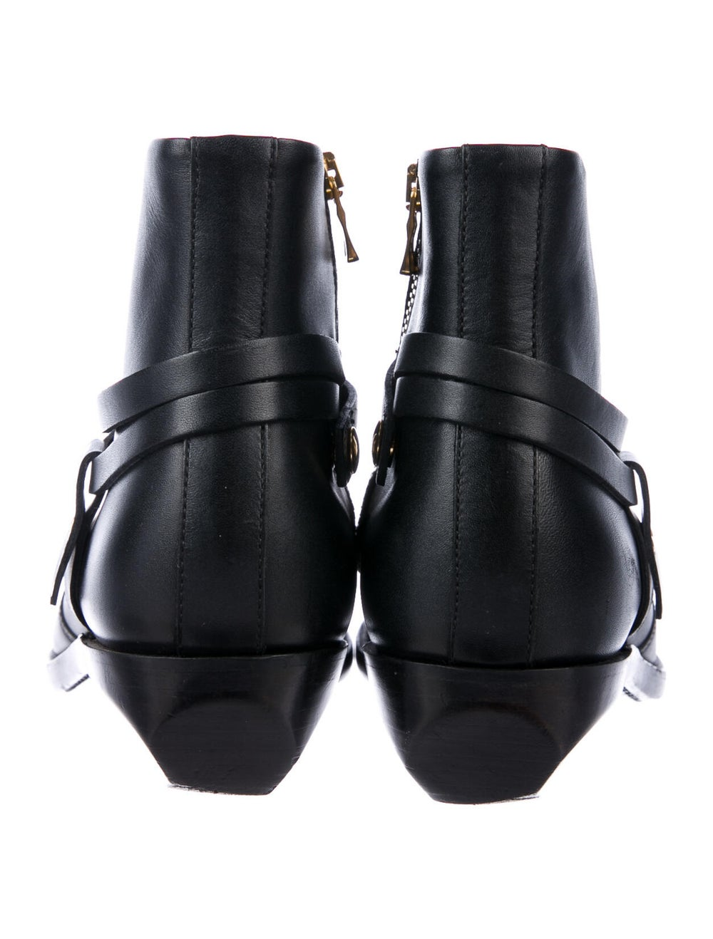 Balmain Leather Western Boots Black - image 4