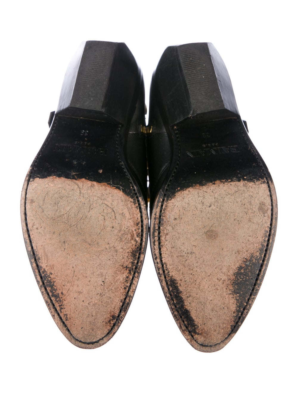 Balmain Leather Western Boots Black - image 5