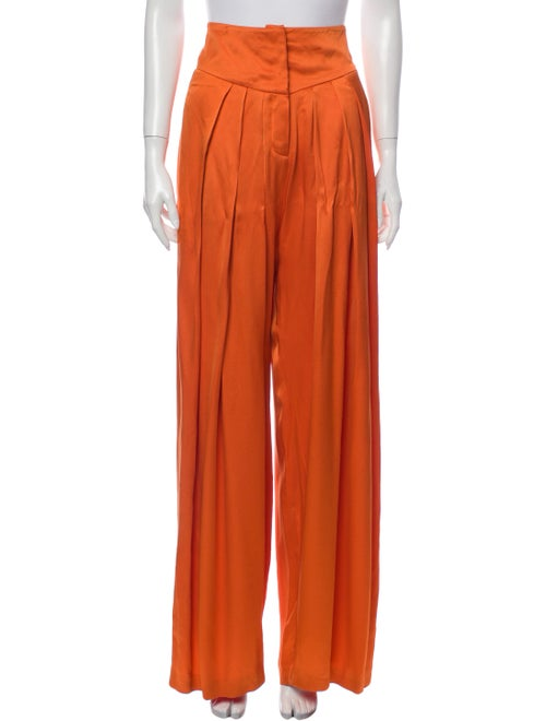 Balmain Wide Leg Pants Orange