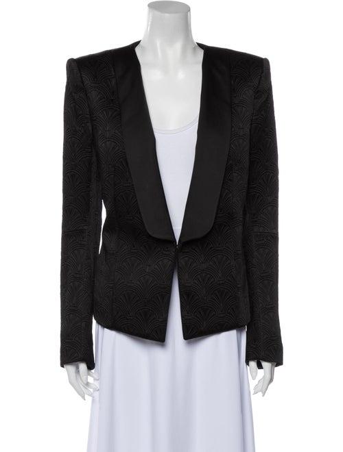 Balmain Jacquard Tuxedo Blazer Black