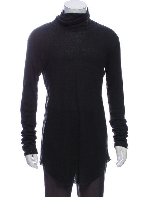 Balmain Turtleneck Long Sleeve T-Shirt Grey
