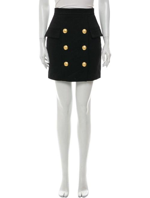 Balmain Mini Skirt Black
