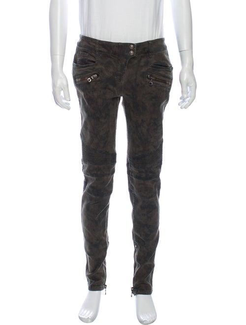 Balmain Skinny Jeans Green