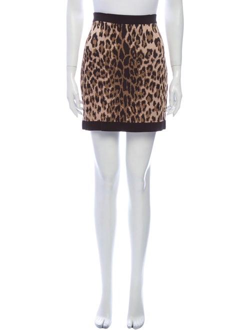 Balmain Animal Print Mini Skirt