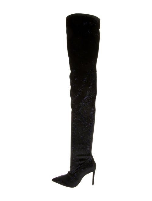 Balmain Over-The-Knee Sock Boots Blue