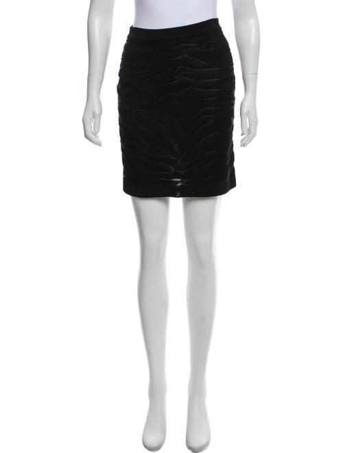 Balmain Mini Pencil Skirt Black