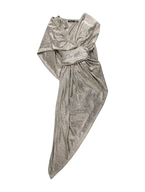 Balmain Cowl Neck Long Dress Gold