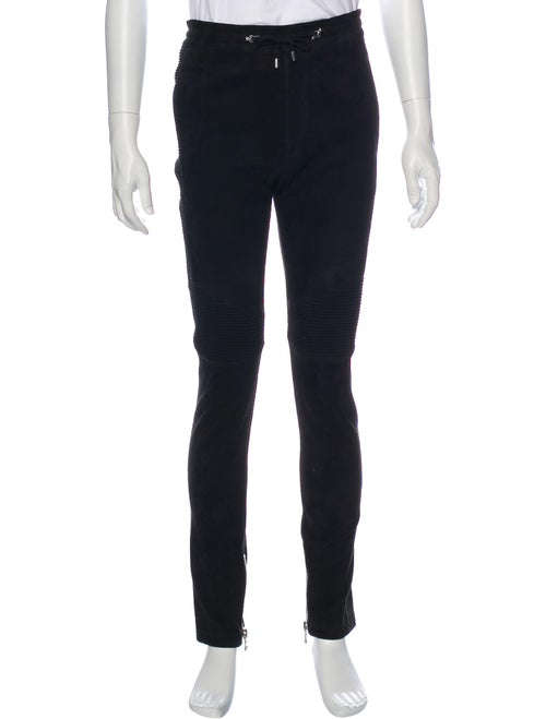 Balmain Leather Pants Black