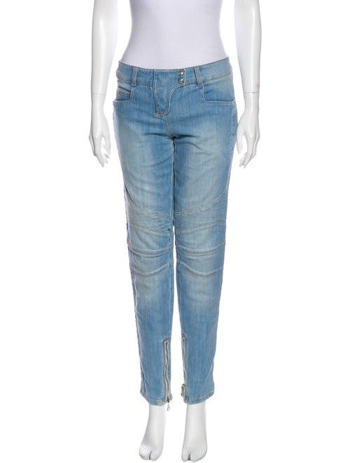 Balmain Mid-Rise Straight Leg Jeans Blue