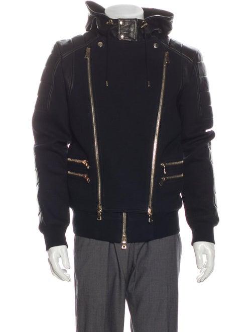 Balmain Moto Jacket Black