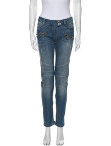 Balmain Mid-Rise Skinny Leg Jeans
