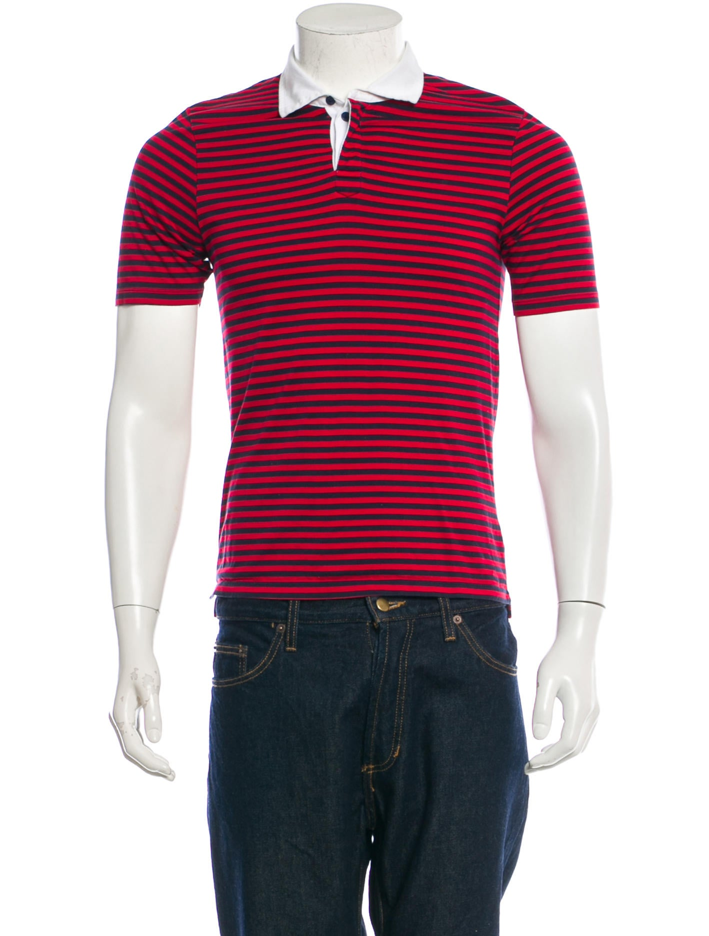 Band Of Outsiders Jersey Knit Polo Shirt Clothing