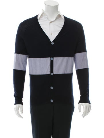 Band of Outsiders Silk & Cashmere-Blend Cardigan w/ Tags None