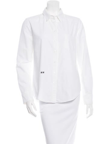 Band of Outsiders Embroidered Button-Up