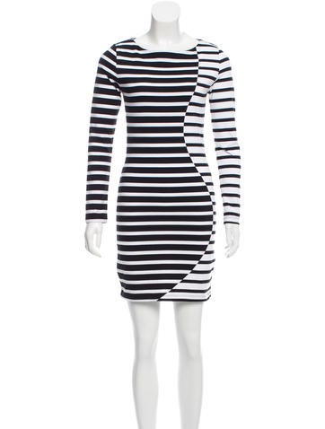 Band of Outsiders Striped Knee-Length Dress