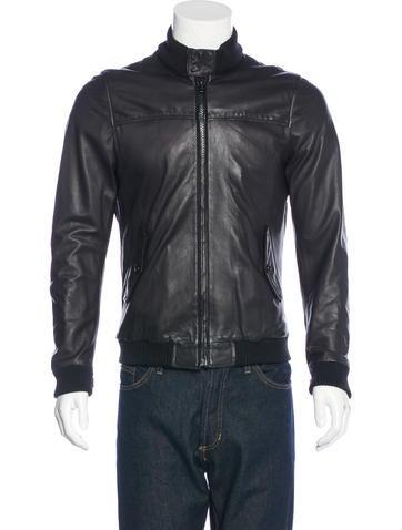 Band Of Outsiders Herrington Leather Bomber Jacket