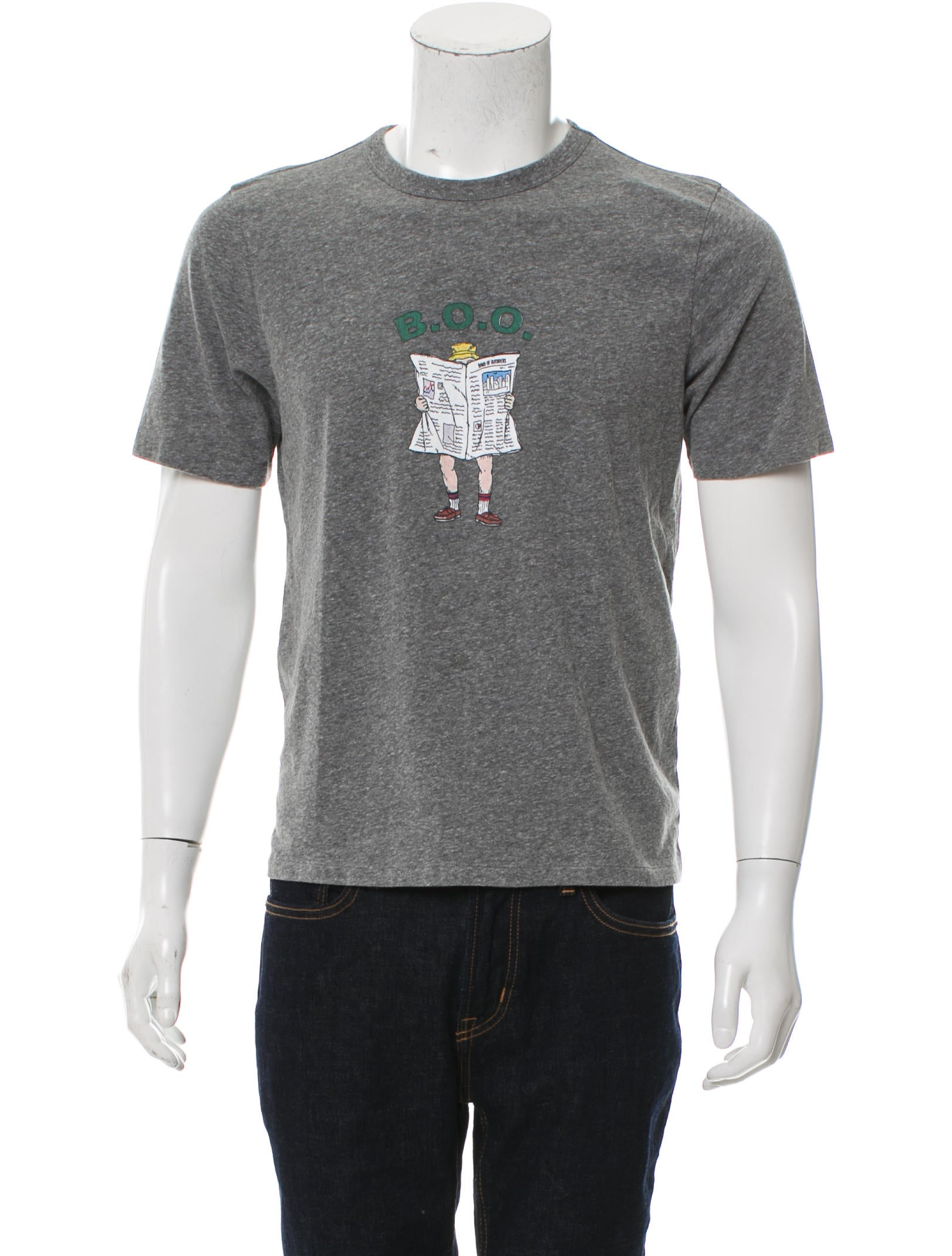 Band of outsiders graphic print crew neck t shirt for T shirt graphic printing