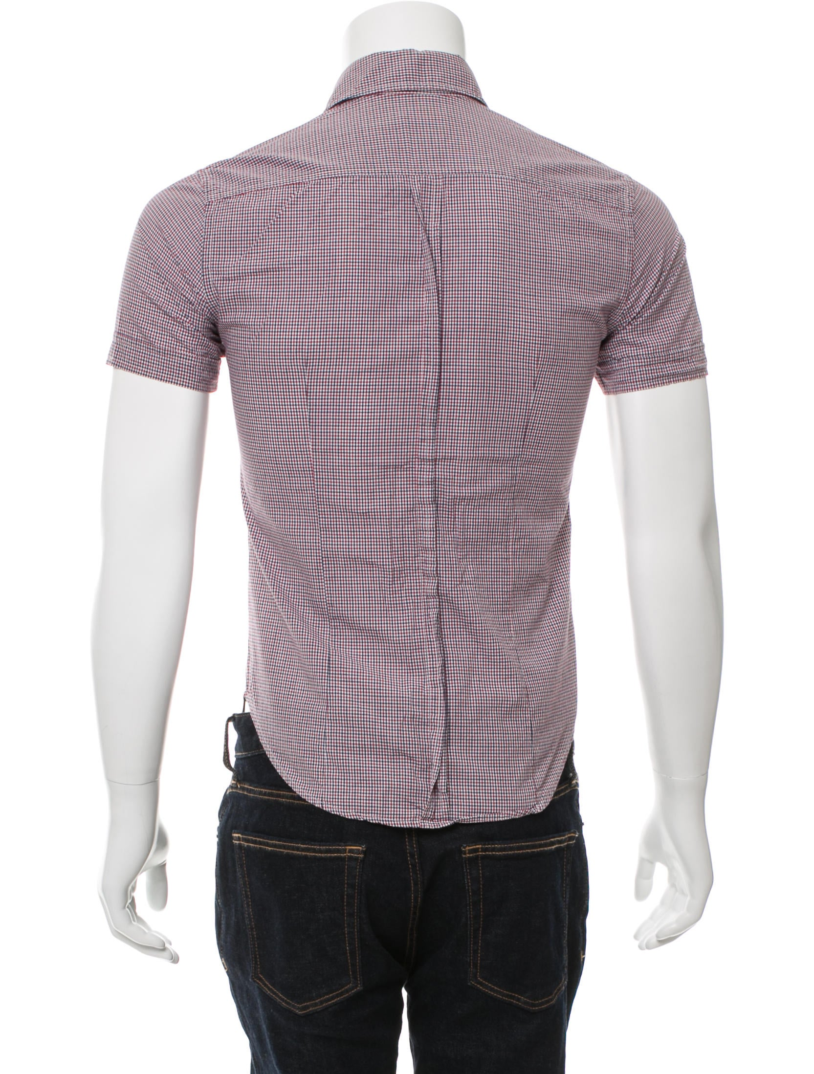 Band of outsiders plaid short sleeve shirt clothing Short sleeve plaid shirts