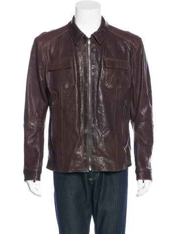 Barney's Antique Leather Jacket w/ Tags None