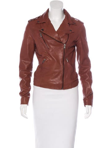 Barney's Leather Moto Jacket None