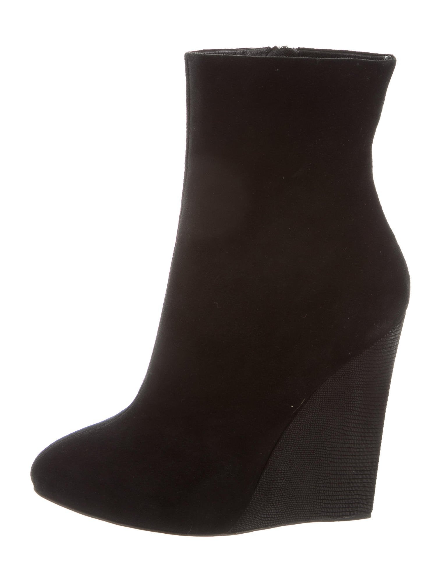 barney s suede wedge ankle boots shoes bar20260 the