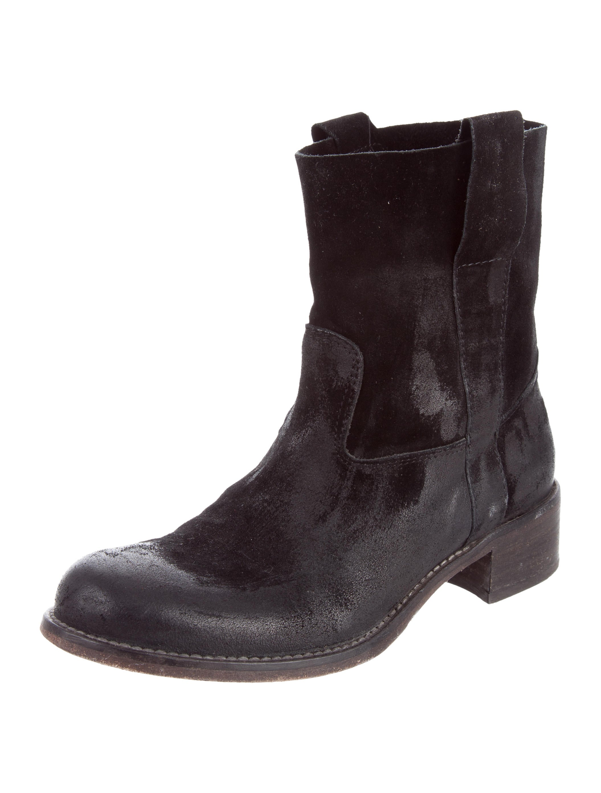 barney s distressed suede ankle boots shoes bar20296