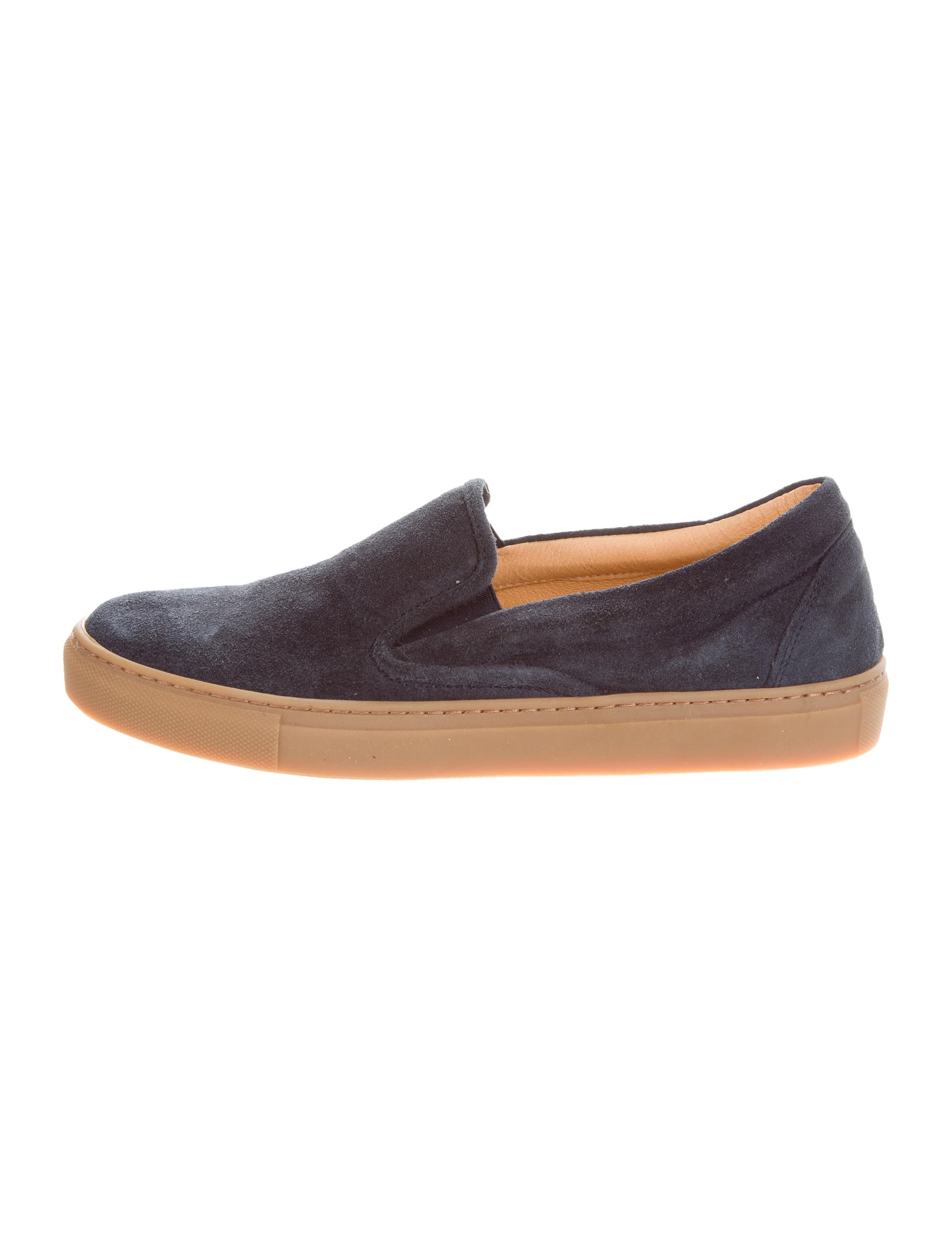 barney s suede slip on shoes shoes bar20338 the realreal